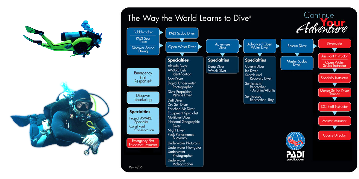 Learn from an International diving Centre